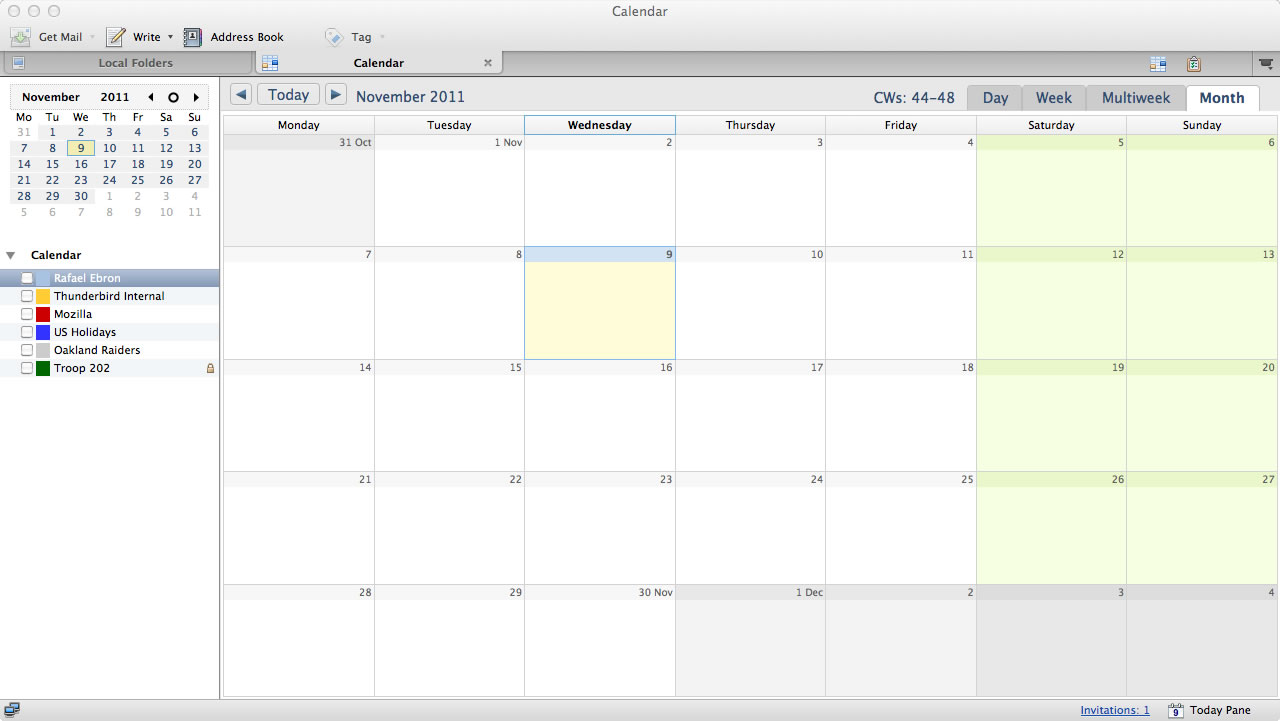 Lightning 1.0 , the calendar Add-on for Thunderbird, is here. Over 1 ...
