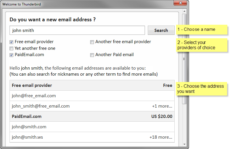 How about a new email address ? | The Mozilla Thunderbird Blog