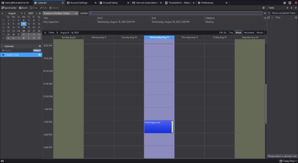 The improved calendar sidebar.